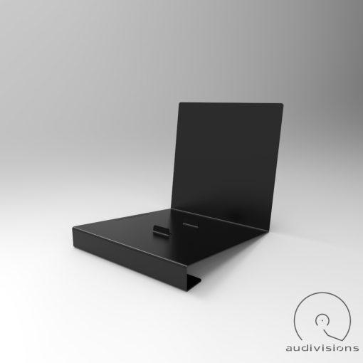 Alpha desktop vinyl record holder side view 3