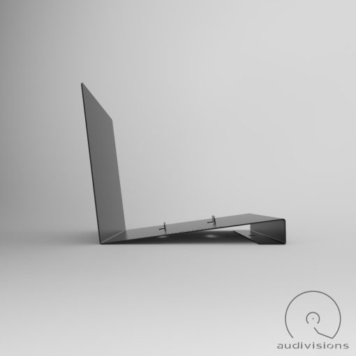 Alpha desktop vinyl record holder side view