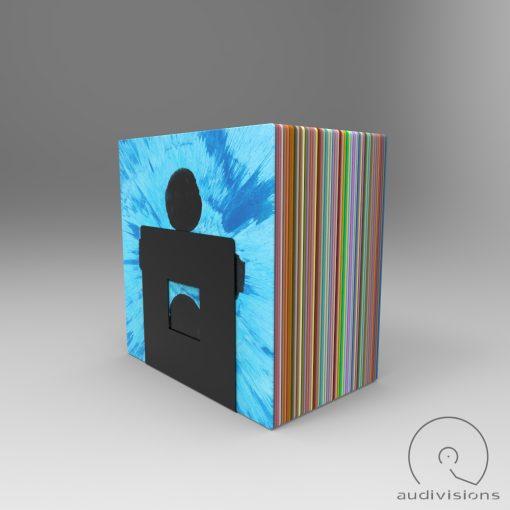 Alea desktop vinyl record holder view with LP