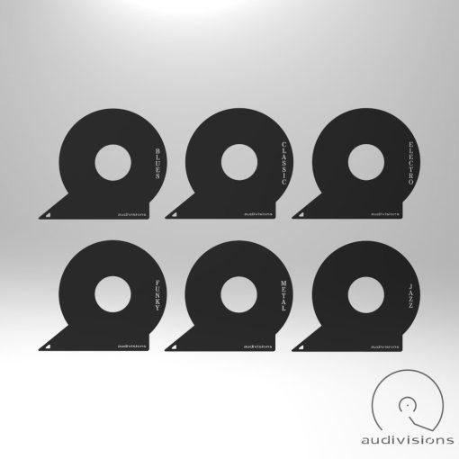 Selector Horizontal vinyl record tab many
