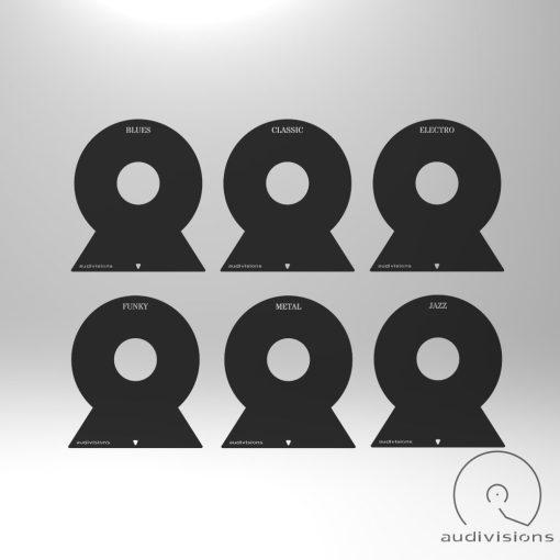Selector (vertical) vinyl record organizer pack