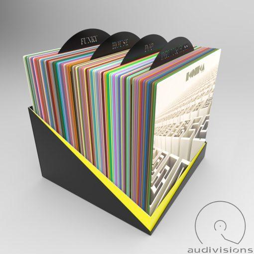 Selector (vertical) vinyl record organizer view