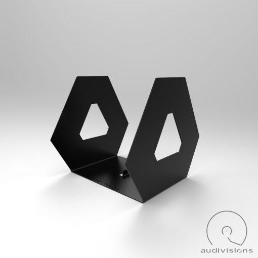 Hexa desktop vinyl record holder side view