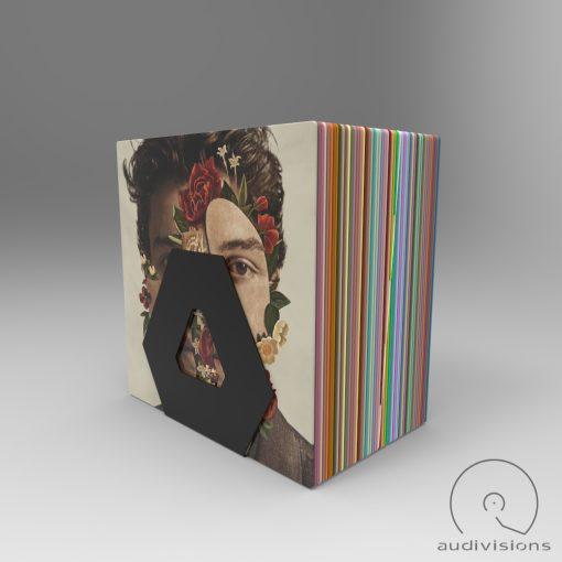Hexa desktop vinyl record holder example